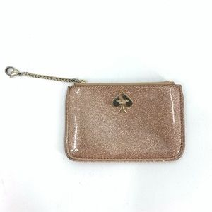 Kate Spade Glitter Bug Flat Coin Purse Wallet